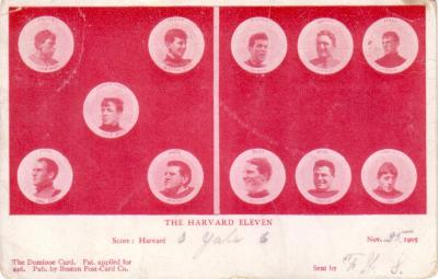 1905 Harvard football team postcard