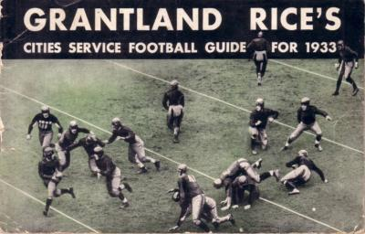 1933 Grantland Rice&#039;s Cities Service Football Guide