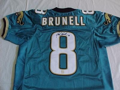 Mark Brunell autographed Jacksonville Jaguars authentic jersey