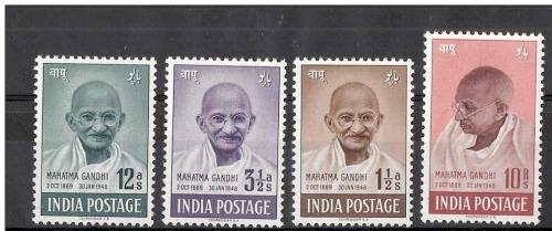 INDIA 1948 MAHATMA GANDHI SET MINT NEVER HINGED