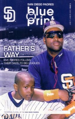 Tony Gwynn Sr and Jr 2010 San Diego Padres program