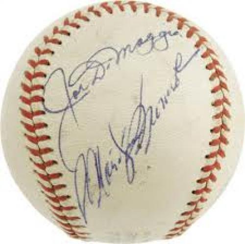 Memorabilia; Joe DiMaggio - Marilyn Monroe Autographed Baseball