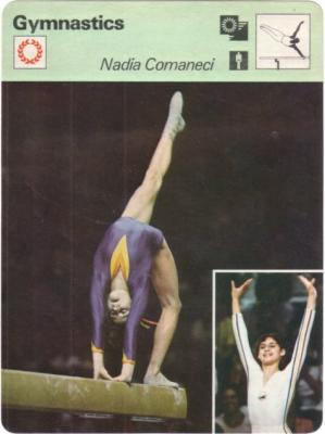 Nadia Comaneci 1977 Sportscaster card