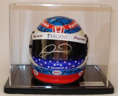Danica Patrick autographed IRL rookie season mini racing helmet with display case