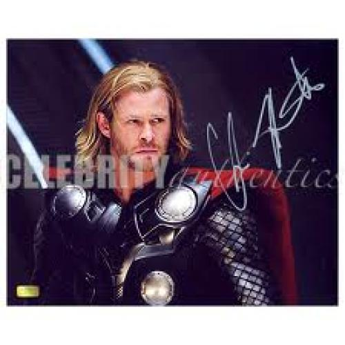 Memorabilia; Autographed Chris Hemsworth Autographed Thor Movie 