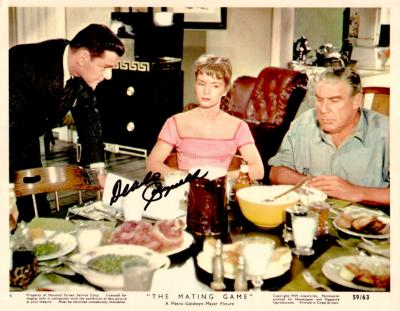 Debbie Reynolds autographed 8x10 The Mating Game photo