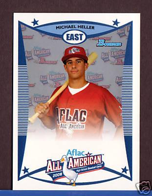 Michael Heller 2008 AFLAC Bowman Rookie Card