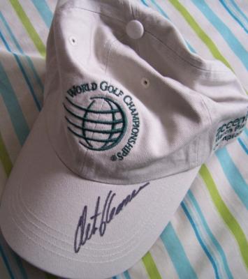 Retief Goosen autographed World Golf Championships cap