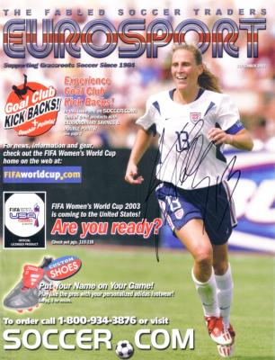 Kristine Lilly autographed 2003 U.S. National Team Eurosport cover