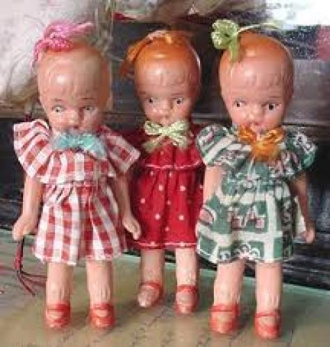 Dolls; During the 1940's all bisque dolls were imported mainly from Japan
