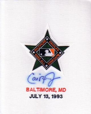 Cal Ripken autographed 1993 All-Star Game jersey sleeve patch