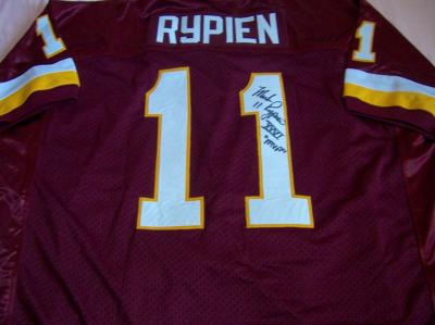 Mark Rypien autographed Washington Redskins authentic jersey inscribed XXVI MVP