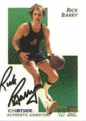 Rick Barry certified autograph Courtside Flashback card