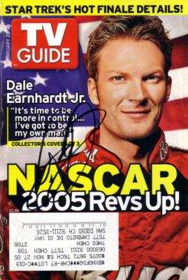Dale Earnhardt Jr. autographed 2005 TV Guide cover