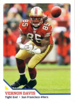 Vernon Davis 49ers 2010 Sports Illustrated for Kids card