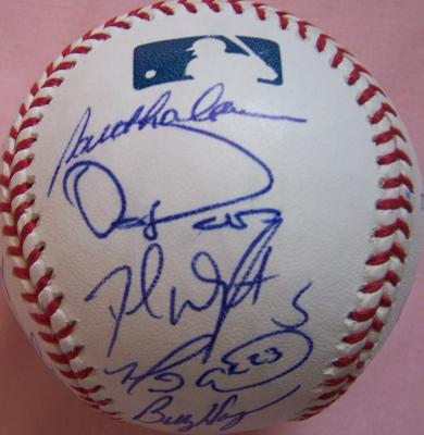 2007 New York Mets team autographed baseball Tom Glavine Jose Reyes Billy Wagner David Wright