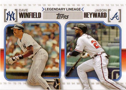 2010 Topps Legendary Lineage #LL-61 ~ Dave Winfield / Jason Heyward