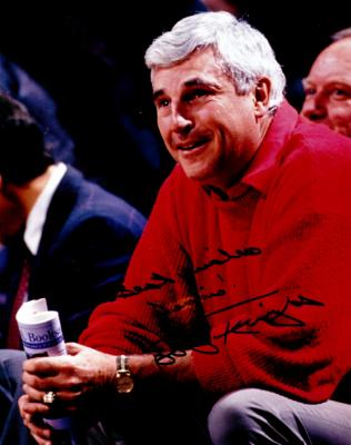 Bob Knight autographed 8x10 photo inscribed Best wishes Dennis