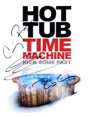 Rob Corddry Clark Duke Craig Robinson autographed Hot Tub Time Machine 8x10 photo