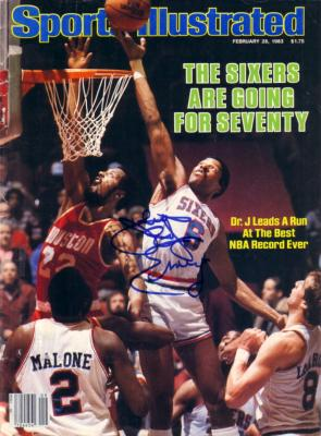 Julius Erving autographed Philadelphia 76ers 1983 Sports Illustrated