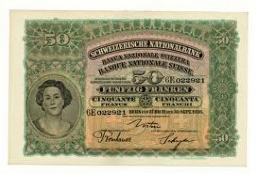 Banknotes; SWITZERLAND 50 FRANCS