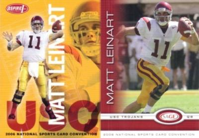 Matt Leinart 2006 SAGE National Convention promo card set