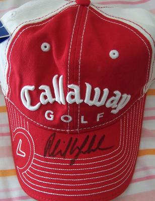 Phil Mickelson autographed Callaway golf cap or hat
