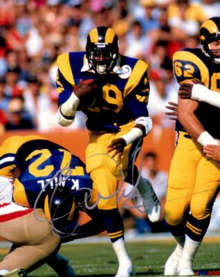 Eric Dickerson autographed Los Angeles Rams 8x10 photo