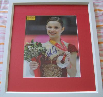 Sasha Cohen autographed 2006 Olympic magazine photo matted & framed