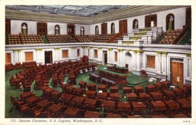 U.S. Capitol Senate Chamber vintage postcard