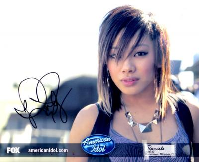 Ramiele Malubay autographed 2008 American Idol 8x10 photo