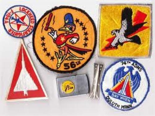 "Lorin Eldred ""Larry"" Marble's memorabilia items and patches"