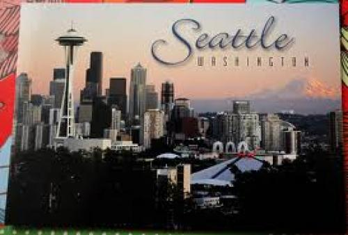 The famous landmark of   Seattle Washington-Postcard