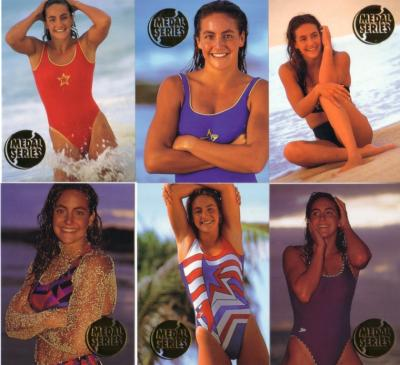 Summer Sanders 1993 Portfolio Endless Summer swimsuit insert card set (6)
