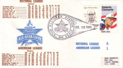 1985 MLB All-Star Game cachet envelope