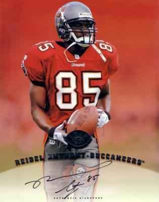 Reidel Anthony certified autograph Buccaneers 1997 8x10 photo card