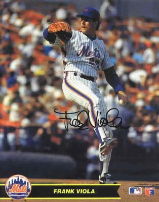Frank Viola autographed 8x10 New York Mets photo