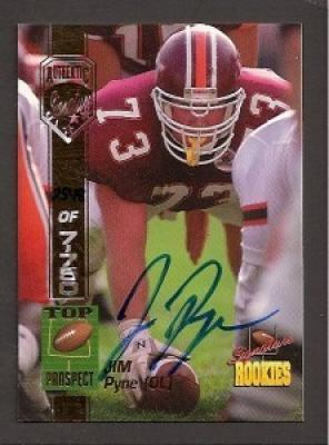 Jim Pyne Virginia Tech certified autograph 1994 Signature Rookies card