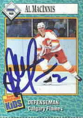 Al MacInnis autographed Calgary Flames 1989 Sports Illustrated for Kids card