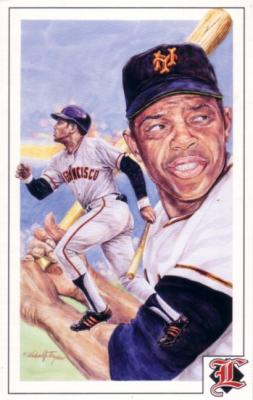 Willie Mays Giants 1992 Legends Magazine postcard