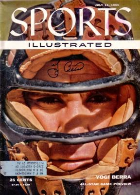 Yogi Berra autographed New York Yankees 1955 Sports Illustrated