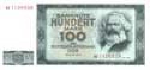 German Democratic Republic; 100 Mark; Issue of 1964