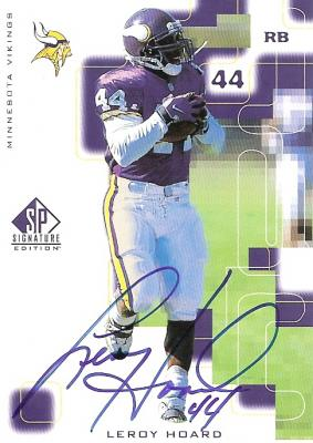 Leroy Hoard certified autograph Minnesota Vikings 1999 SP card