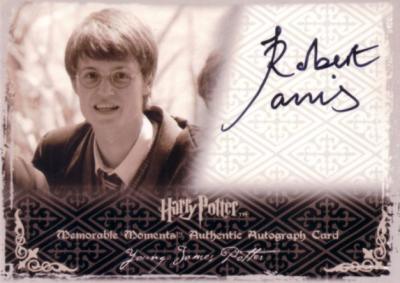 Robert Jarvis Harry Potter certified autograph Young James Potter card
