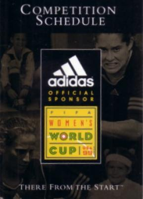 1999 FIFA Women&#039;s World Cup soccer Adidas pocket schedule