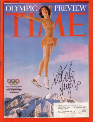 Sarah Hughes (skating) autographed 2002 Time magazine