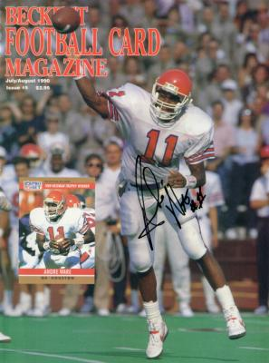 Andre Ware (1989 Heisman) autographed Houston Cougars 1990 Beckett Football magazine cover