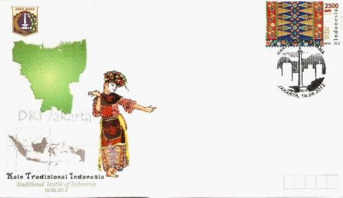 Traditional Textile of Jakarta on stamp on FDC