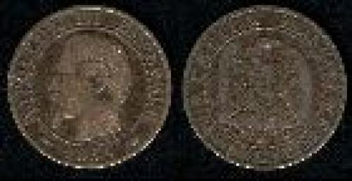5 centimes; Year: 1853-1857; (km 777)