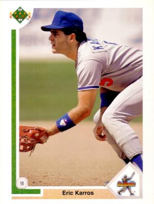 Eric Karros 1991 Upper Deck UDA Los Angeles Dodgers jumbo Rookie Card #/2500